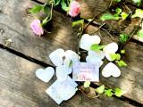 Marturii nunta hartie plantabila Lovely Ballerina – inimioara hartie seminte