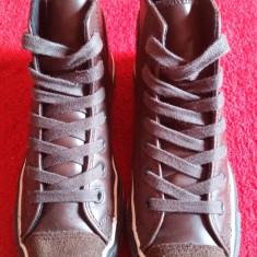 Converse All Star originali, high top, piele naturala, nr.37-23, 5 cm. - Tenisi dama Converse, Culoare: Maro
