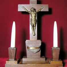 CRUCE DIN LEMN SI ALAMA - Crucifix