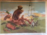"PLANSA  DIDACTICA  VINTAGE - "" CASUTA DIN OALA "" 1978"