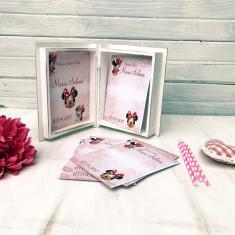 Carte cu Ganduri Bune Minnie – Guestbook personalizat