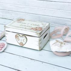 Cutie de nunta personalizata Dreamy Pink Wedding Box, Cadouri Valentine`s Day