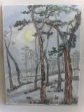 In noapte-pictura ulei pe panza;