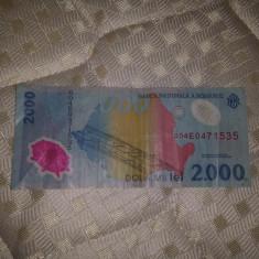Bacnota 2000 lei eclipsa - Bancnota romaneasca