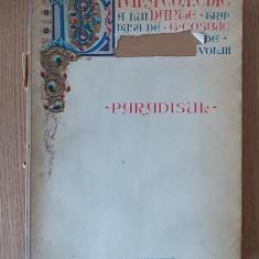 DANTE- DIVINA COMEDIE- PARADISUL-1932, traducere de G.COSBUC - Carte veche