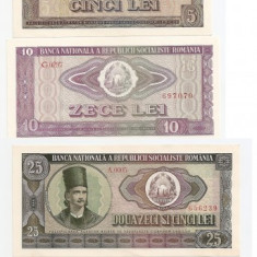 ROMANIA RSR 1, 3, 5, 10, 25, 50, 100 LEI 1966 UNC - pret per lot - Bancnota romaneasca