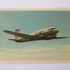 Avion pasageri IL-14,carte postala necirculata Aeroflot din anii 50
