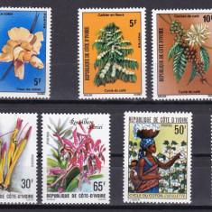 Coasta de Fikdes 1974/75/79 6 serii flori fructe MNH w45 - Timbre straine, Nestampilat