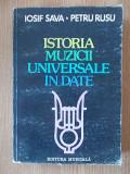 ISTORIA MUZICII UNIVERSALE IN DATE- SAVA, RUSU