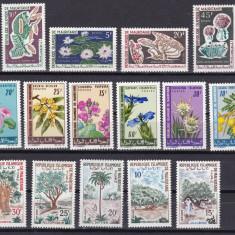 Mauritania 1965/66/67 3 serii flori MNH w45 - Timbre straine, Nestampilat