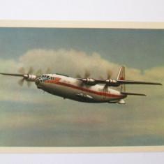 Avion pasageri AN-10 A,carte postala necirculata Aeroflot din anii 50