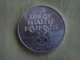 FRANTA - 100 franci 1986 Argint 900, Europa