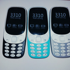 Telefon Nokia 3310 dual sim model 2017 / functioneaza in orice retea cu 2 simuri, Gri, Neblocat