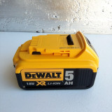 Baterie, acumulator DEWALT XR 18V si 5Ah noua - Masina de gaurit
