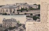 OLTENIA  CALARASI SPITALUL JUDETEAN GIMNAZIUL STIRBEI-VODA CLASICA CIRCULATA1907, Circulata, Printata