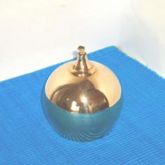Lampa cu fitil alama masiva polisata 100% hand made, cca 1960 - Markaryd Sweden