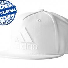 Sapca Adidas Flat Logo - sapca originala - Sapca Barbati Adidas, Marime: Marime universala, Culoare: Alb