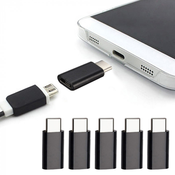 Adaptor MICRO USB mama la USB 3.1 TYPE C tata pentru telefon, tableta, laptop
