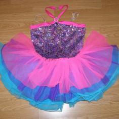 Costum carnaval serbare rochie dans balet gimnastica pentru copii de 7-8 ani - Costum dans, Marime: Masura unica, Culoare: Din imagine
