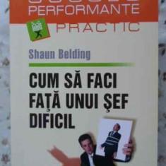 Cum Sa Faci Fata Unui Sef Dificil - Shaun Belding, 405913 - Carte Psihologie