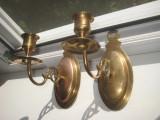 Aplice pereche clasice bronz cu Sfesnice pt lumanari.