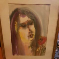 Pictura pe sticla incalzita, Portrete, Acuarela, Abstract
