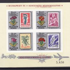 Ungaria 1971 ziua marcii MI bl.83B nedant. MNH w45 - Timbre straine, Nestampilat