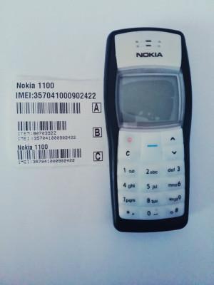 Telefon Nokia 1100 negru / functioneaza in orice retea / reconditionat foto