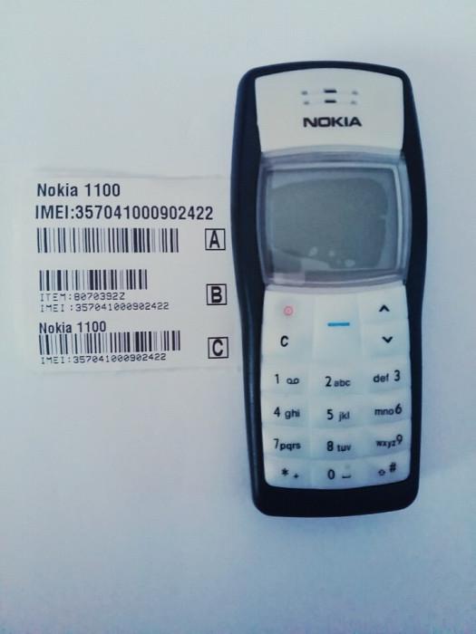 Telefon Nokia 1100 negru / functioneaza in orice retea / reconditionat