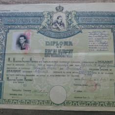 Diploma de bacalaureat/ 1944, Mihai I Regele Romaniei, liceul Gheorghe Lazar - Diploma/Certificat