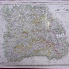 NOUA HARTA A TRANSILVANIEI, 1843 - Harta Romaniei
