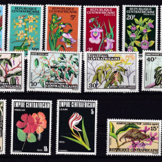 Africa Centrala 1966/73/77 4 serii flori fauna MNH w45 - Timbre straine, Nestampilat