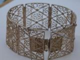 Bratara argint vintage cu filigran -1712