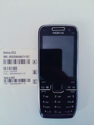 Telefon Nokia e52 negru / produs original / necodat foto