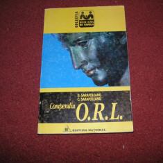Compendiu O.r.l. - D. Sarafoleanu, C. Sarafoleanu - Carte ORL