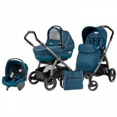 Carucior 3 in 1 Book Plus S Black Completo SL Saxony Blue - Carucior copii 3 in 1 Peg Perego
