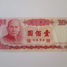 Taiwan 100 Yuan 1987 - bancnota asia