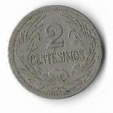 Moneda 2 centesimos 1909 - Uruguay, America Centrala si de Sud
