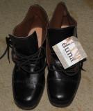 Duna,incaltaminte de piele,ghete,pantofi maro spre negru,Italy, marimea 43, Din imagine