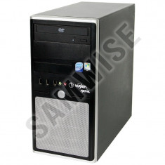 Sistem PC Intel 4x3, 00 Ghz 8 GB DDR3 hdd 160 Gb 4 Gb video DVDRW+Monitor L175 - Sisteme desktop cu monitor Gigabyte, Intel Core 2 Quad, 100-199 GB, 2501-3000Mhz, LGA775