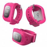 Ceas GPS tracker pentru urmarire copil cu SOS agenda si aplicatie Android IOS, Aluminiu, Android Wear, Apple Watch