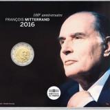 "FRANTA 2 Euro comemorativ  2016 – ""1916 2016 – François Mitterrand"" – BU, Europa"