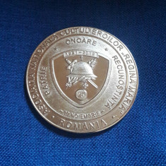 Medalie Romania General Ion Dragalina - Cultul eroilor - Medalii Romania