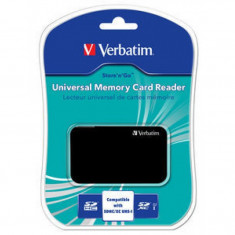 Cititor de carduri Verbatim Universal, USB 2.0, Negru