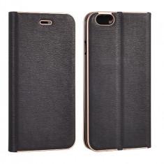 Husa Samsung Galaxy S7 Edge Flip Case Inchidere Magnetica Black, Negru, Piele Ecologica