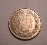 25 bani 1955 AUNC