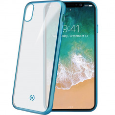 Husa Protectie Spate Celly LASERMATT900LB Laser Matt Albastru pentru APPLE iPhone X - Husa Telefon
