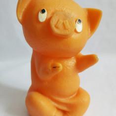 (T) Porc / purcel / purcelus Aradeanca, jucarie romaneasca veche, rara, 16cm