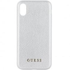 Husa Protectie Spate Guess GUHCPXIGLSI Iridescent Piele Argintiu pentru APPLE iPhone X - Husa Telefon