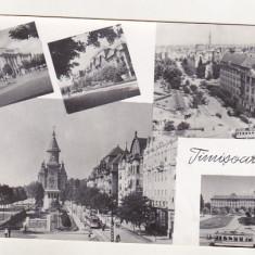 Bnk cp Timisoara - Vedere - uzata - Carte Postala Banat dupa 1918, Circulata, Printata